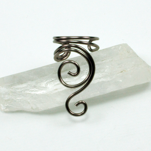 Gunmetal Swirly Ear Cuff